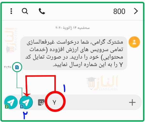 پیامک تبلیغاتی ایرانسل